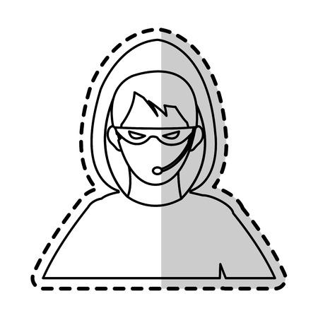 hacker representation icon image vector illustration design