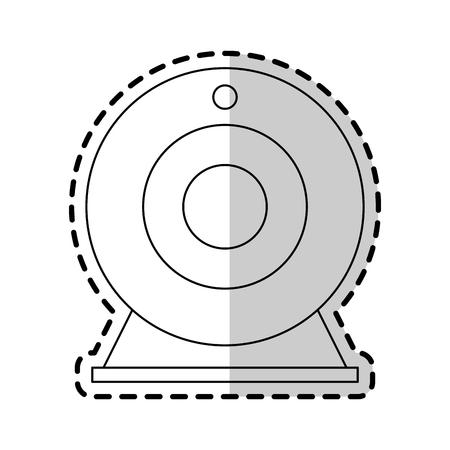 dvd: attachable webcam icon image vector illustration design