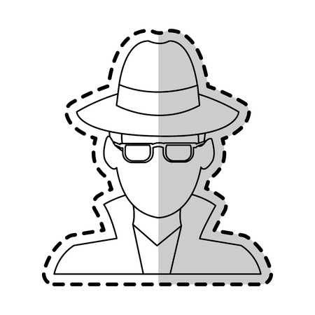 arrested criminal: suspicious looking man icon image criminal vector illustration design