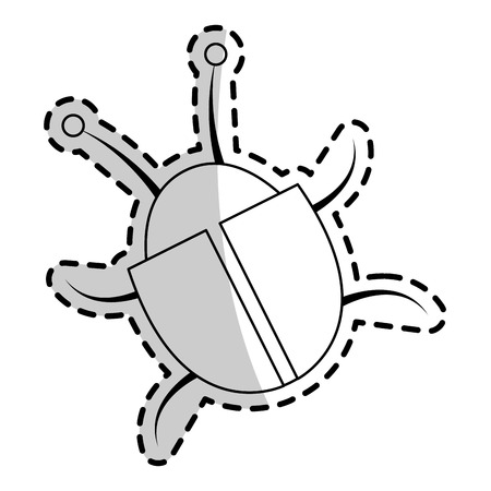 bug beatle icon image vector illustration design