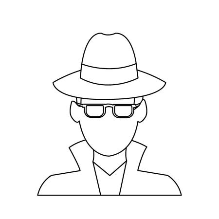 theft proof: suspicious looking man icon image criminal vector illustration design
