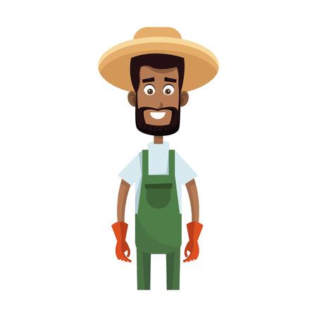 gardener man icon over white background. colorful design. vector illustration