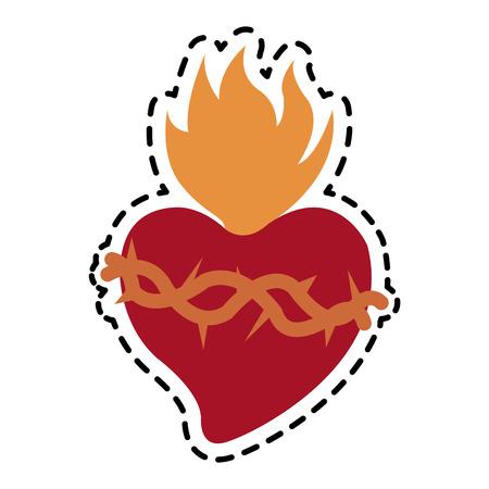 sacred heart icon image vector illustration design