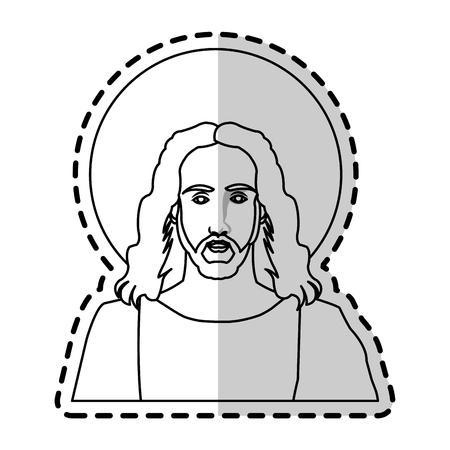 Jesus Christ christian icon image vector illustration design