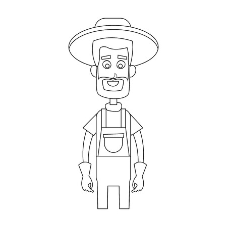 happy male farmer icon image vector illustration design Illustration