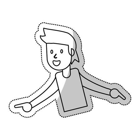 triumphant: guy dance celebrate funny Illustration