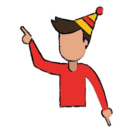 male boy joy celebration Illustration
