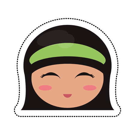 femine: kokeshi head traditional culture Illustration