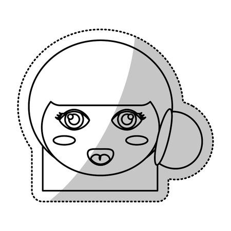 face kokeshi folklore culture line