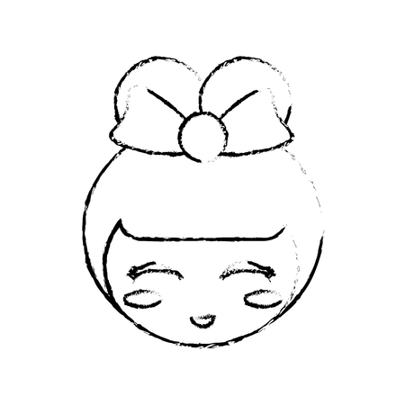 kokeshi: face kokeshi doll sketch