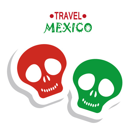 ancient civilization: travel mexico tourism travel skull image Illustration