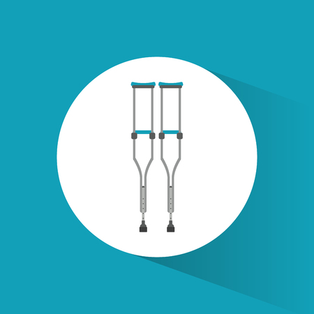 crutches disabled orthopedic icon