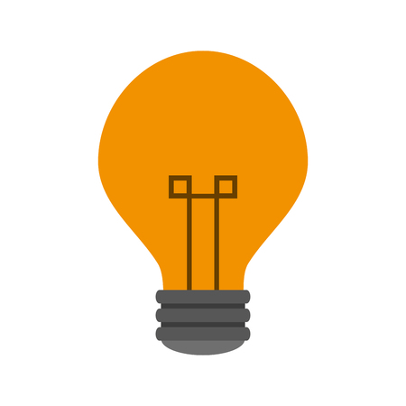 bulb light icon  over white background. colorful design. vector illustration Illustration