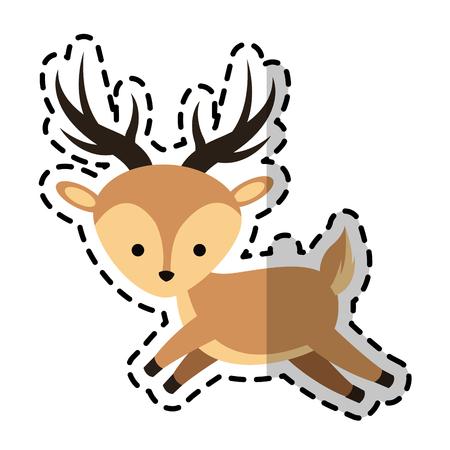 simple life: deer cartoon icon image vector illustration design Illustration