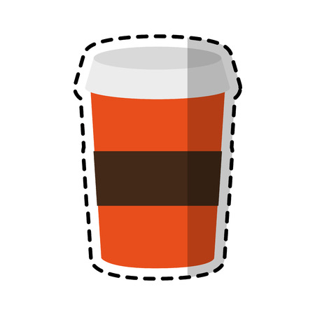 flavored: coffee disposable cup icon image vector illustration design