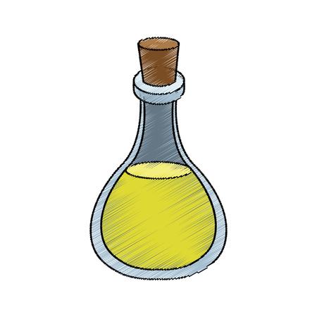 olive oil bottle icon over white background. vector illustration