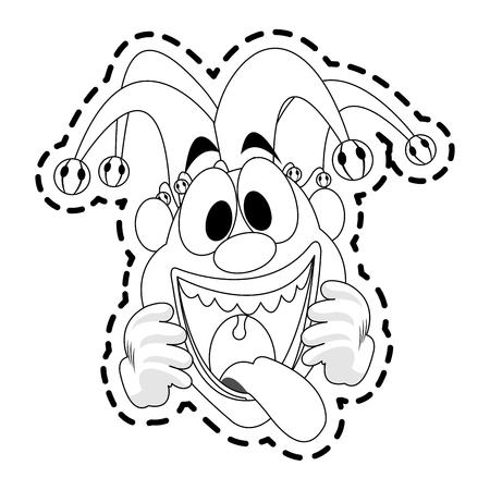 clown cartoon icon image vector illustration design Illustration
