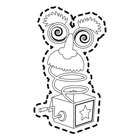 jack in the box toy icon image vector illustration design