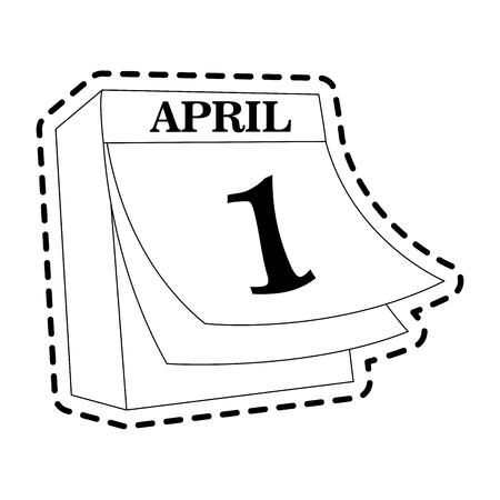 april 1 icon image vector illustration design Illustration
