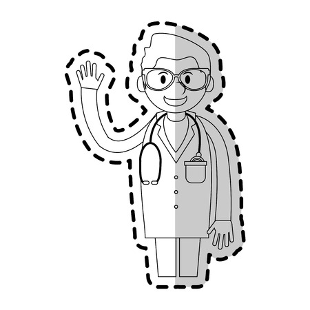 medical doctor cartoon icon image vector illustration design Illustration