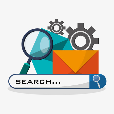 search in web related icons image vector illustration design