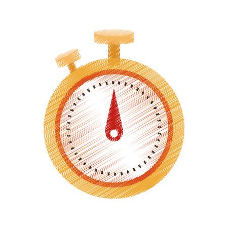 Chronometer icon image vector illustration design.