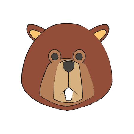 beaver: beaver cartoon icon over white background. vector illustration Illustration