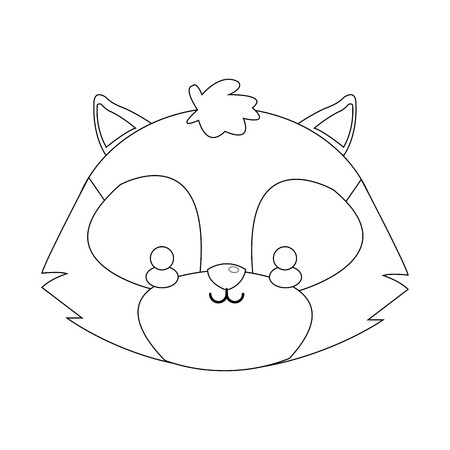 cute skunk icon over white background. vector illustration