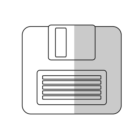 storage device: diskette icon over white background. colorful design. vector illustration