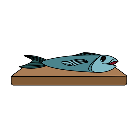 fish food icon image vector illustration design Illustration