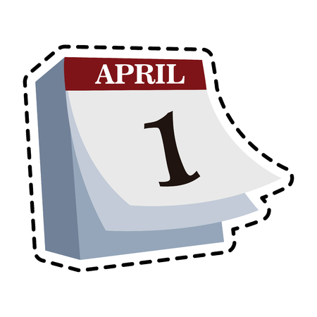 april 1 icon image vector illustration design Illustration