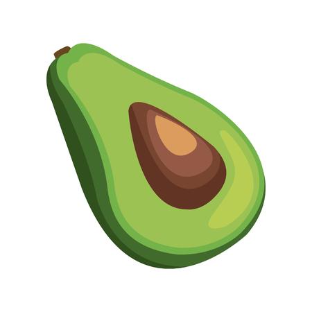 avocado vegetable icon over white background. colorful design. vector illustration Çizim