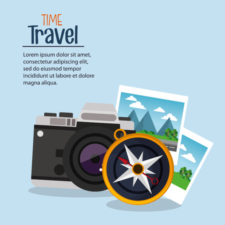 wanderlust: time travel photo camera compass navigation