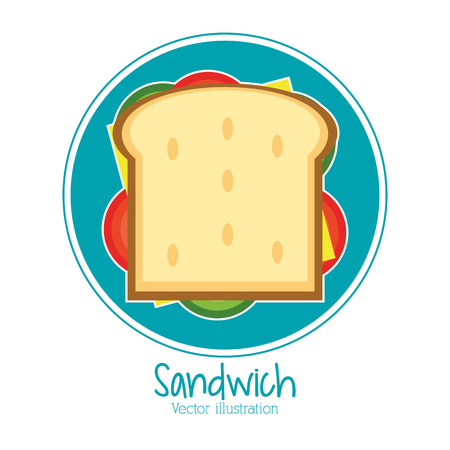 sandwich bread lunch snack icon. food and menu design. Colorfull and flat illustration