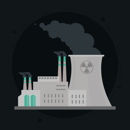 biohazard: nuclear plant concept with icon design, vector illustration 10 eps graphic. Illustration