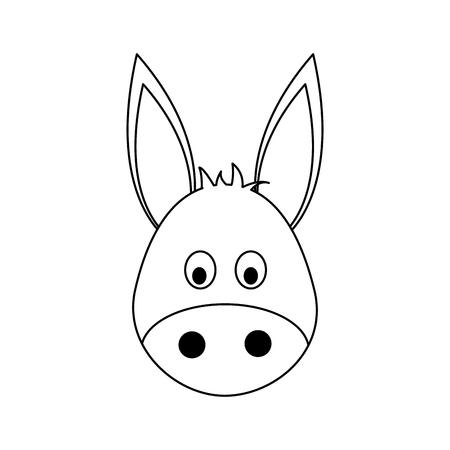 reserve: donkey animal cartoon icon over white background. vector illustration