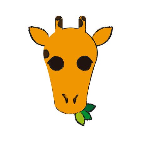 reserve: giraffe animal cartoon icon over white background. vector illustration Illustration