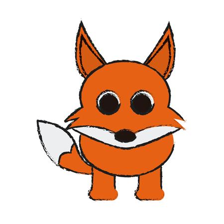 reserve: fox animal cartoon icon over white background. vector illustration