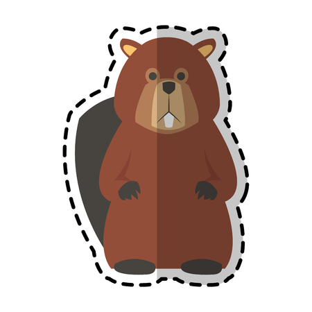 castor: beaver animal icon image vector illustration design