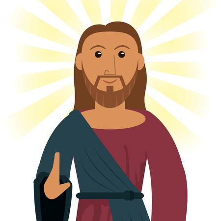 jesus christ devotion spiritual image vector illustration eps 10