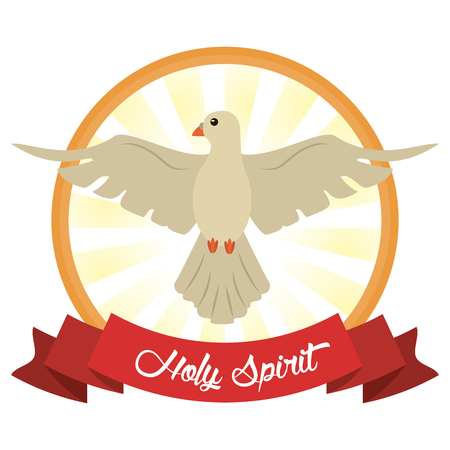 holy spirit faith hope image vector illustration
