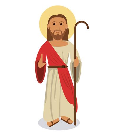 jesus christ religious symbol vector illustration eps 10