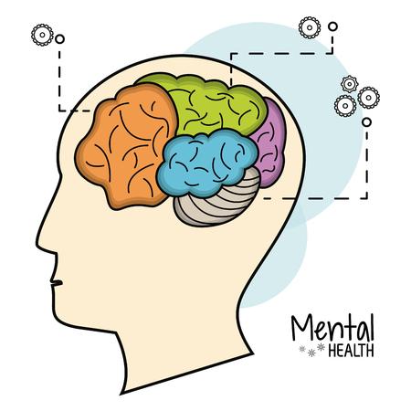 mental health brain function image vector illustration eps 10 Illustration