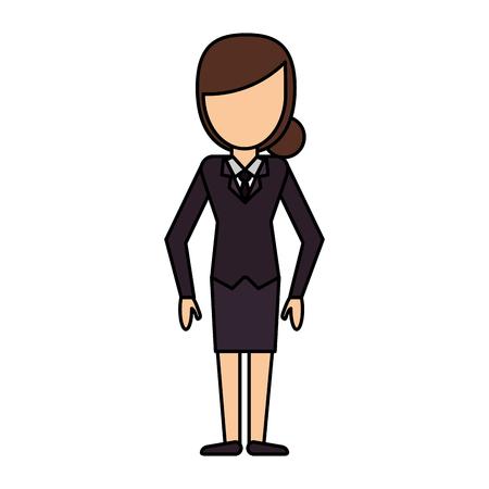 cartoon woman female image vector illustration eps 10 Illustration