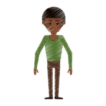 drawing man avatar standing smile vector illustration eps 10