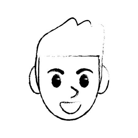 sketchy man head face design image vector illustration eps 10