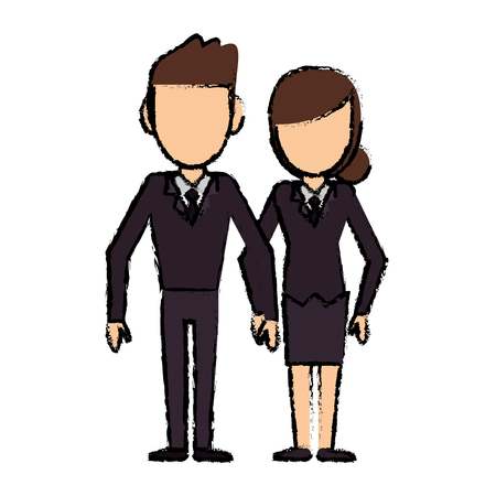 couple people relationship faceless vector illustration eps 10