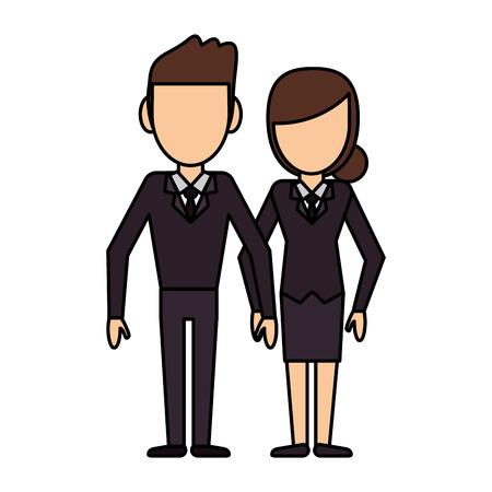 unrecognizable: couple people relationship faceless vector illustration eps 10