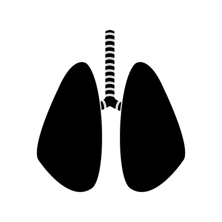 set of human lungs icon image vector illustration design black and white