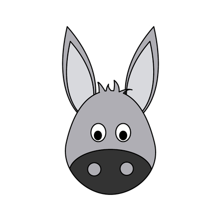 reserve: donkey cute animal cartoon icon image vector illustration design Illustration